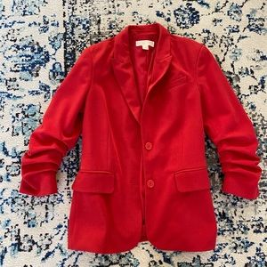 MICHAEL by Michael Korda Red Blazer Size 6